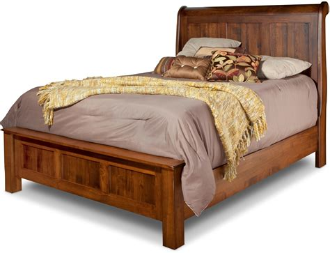 Daniel S Amish Bedroom Furniture Lewiston Sleigh Bed W Low Footboard By Daniel S Amish Collection House Of Bedrooms