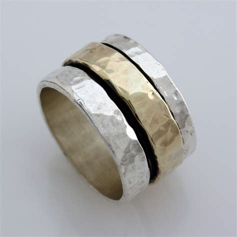 s spinner ring silver gold size 10 11 12 13 ebay