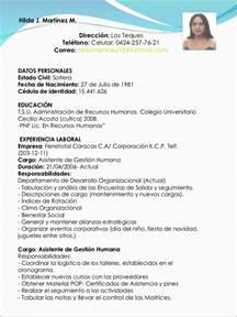 Curriculum Vitae En Ingles by Sintesis Curricular