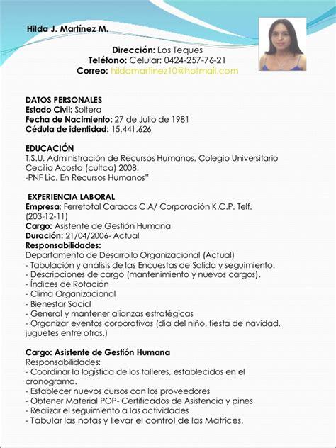 Plantilla De Sintesis Curricular Sintesis Curricular