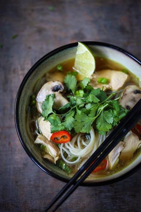 thai chicken noodle soup recipe dishmaps