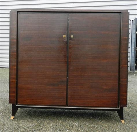 low armoire leleu style art deco low rosewood and gilt brass armoire