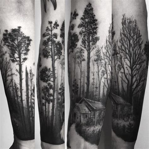 forest forearm tattoo related image tattoos tattoos forest