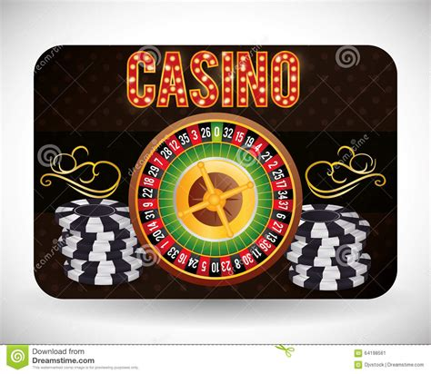 design concept las vegas casino icons design stock illustration image 64198561