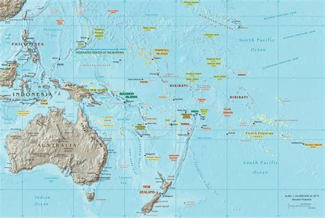 south pacific map images