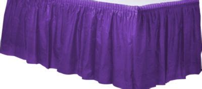 City Table Skirts by Purple Plastic Table Skirt City