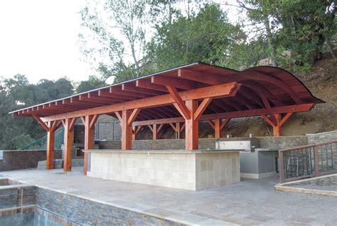 Backyard Pavilion Kits by Backyard Pavilion Kits Custom Redwood Pavilion For Sale