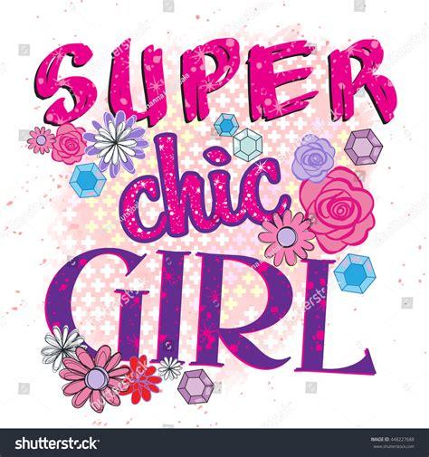 love fashion design print girl super chic girl typography graphic print stock vector