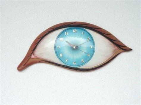 decorative wall clocks battery operated eye clock optical wall decor battery operated ebay