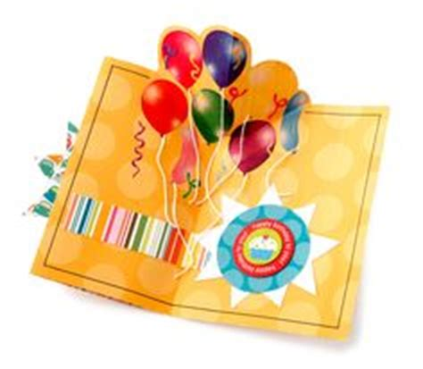 Balloon Pop Up Card Template by Cards Birthday On Card Templates Castles And