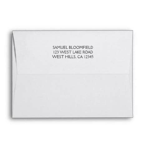 Return Address Lookup Search Results For Template For 5 By 7 Envelope