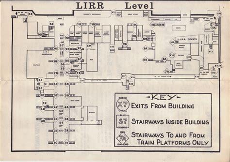 Penn Station Interior Map penn station pathfinder ephemera