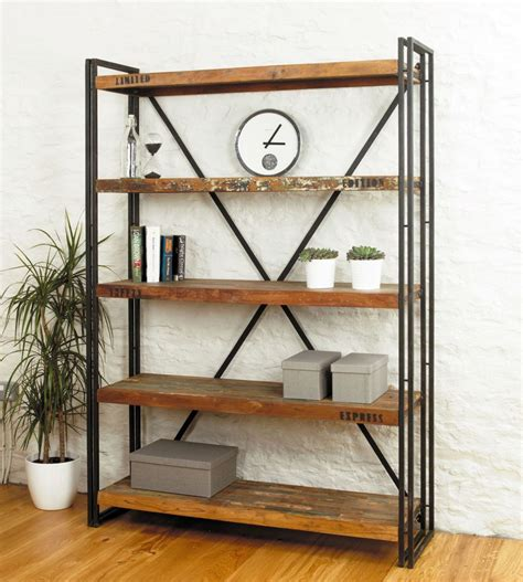 industrial bookshelves simple vintage industrial bookcase designs