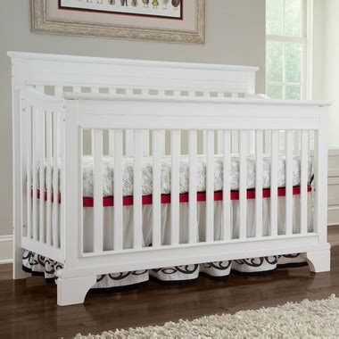 Broyhill Kids Messina 4 In 1 Convertible Crib In White Broyhill Baby Cribs