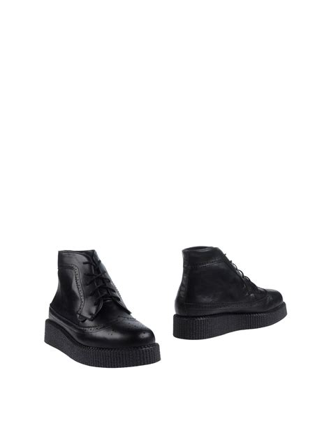 underground boots for underground ankle boots in black for lyst