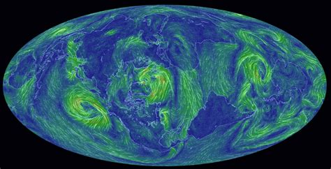 earth wind map hypnotic wind map captures earth s heavenly currents the