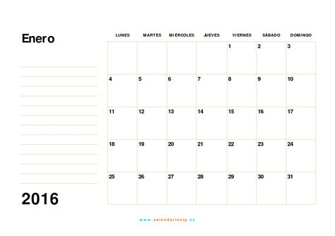 Calendario 2016 Calendario 2016 Calendario 2016 Para Imprimir Gratis