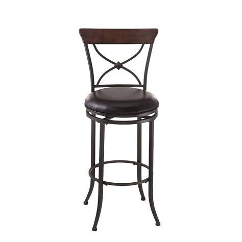 X Back Bar Stool Wood by Cameron Swivel X Back Bar Stool Charcoal Gray Metal