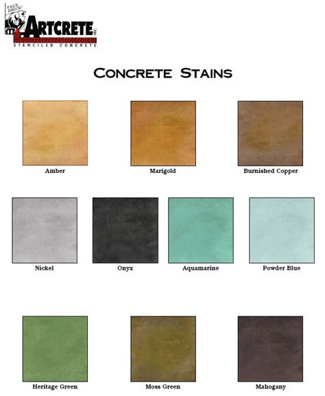 17 best acid stain color charts images on color charts acid stain and stained concrete