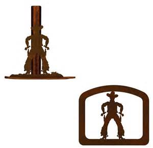 cowboy rustic western paper towel stand napkin holder