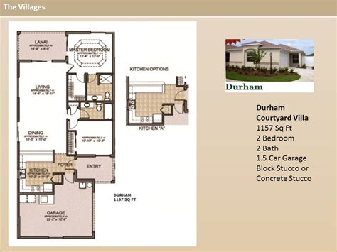 the villages homes courtyard villas durham model