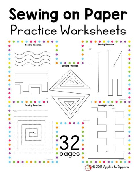 printable paper sewing practice sheets practice sewing worksheets