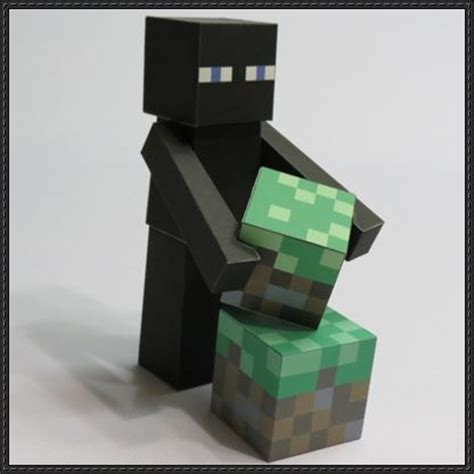 Minecraft Papercraft Enderman - new paper craft minecraft papercraft enderman free