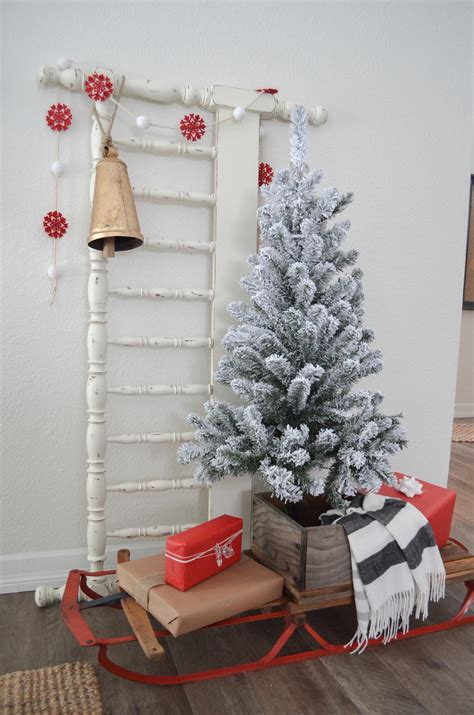 why is tree decorated 3 ways to decorate with a vintage sled farm fresh homestead