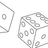 Dice Coloring Page sketch template