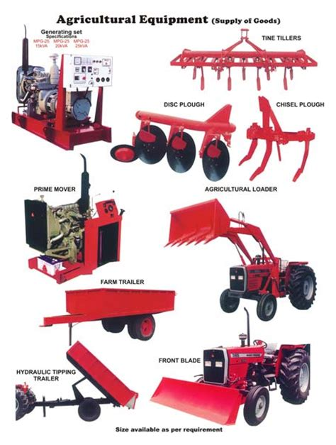 buy agricultural machinery and equipments tractor