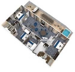 Liberty Of The Seas Floor Plan four bedroom family suite diagram