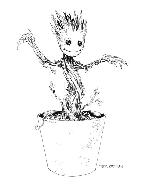 coloring page baby groot baby groot coloring pages coloring pages