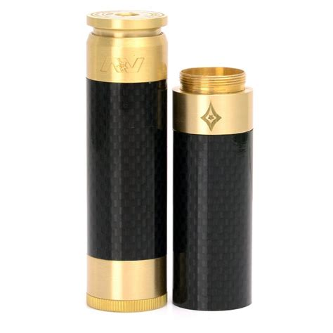 Av Able Blavk Carbon av able stacked style brass black 1 mechanical mod w