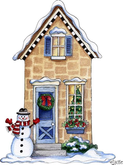 Decoupage House - laurie furnell navidad clip