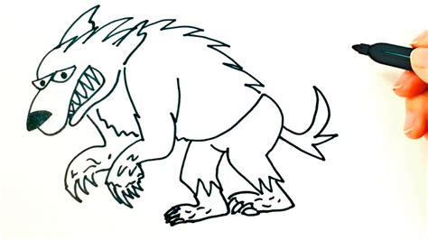 imagenes para dibujar un lobo c 243 mo dibujar un hombre lobo paso a paso dibujo f 225 cil de