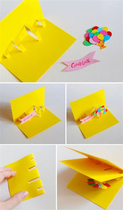 how to make a easy pop up card diy card an extremely easy way to make a pop up card of