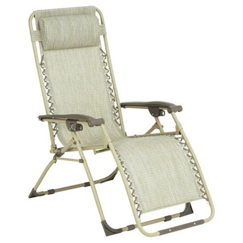 reclining garden chairs tesco buy gravity recliner sun lounger cream from our garden