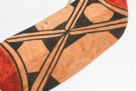 tribal pattern paddles ethnographic tribal painted paddle w bird handle