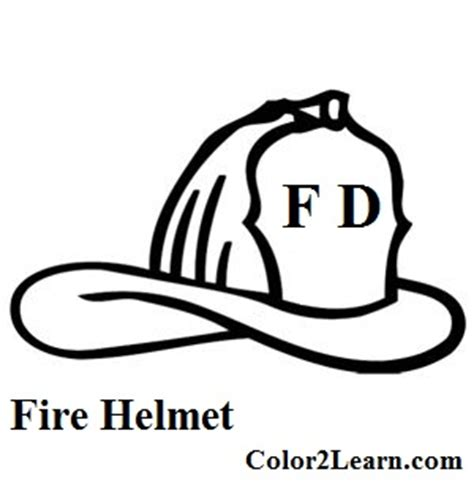 Fire Engine Coloring Pages And Facts Fire Equipment Fireman Hat Coloring Page