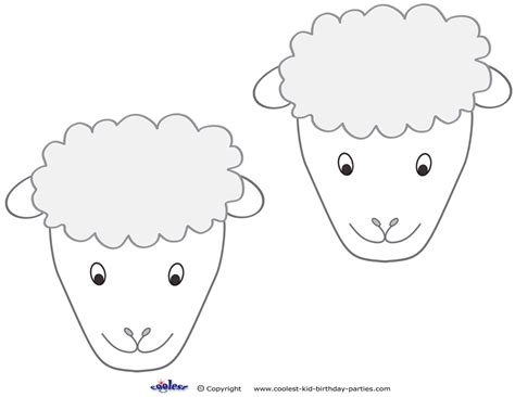 free printable sheep mask template