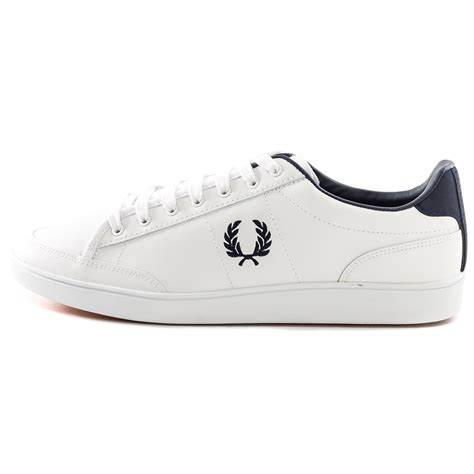 fred perry shoes fred perry hopman mens trainers leather white navy new