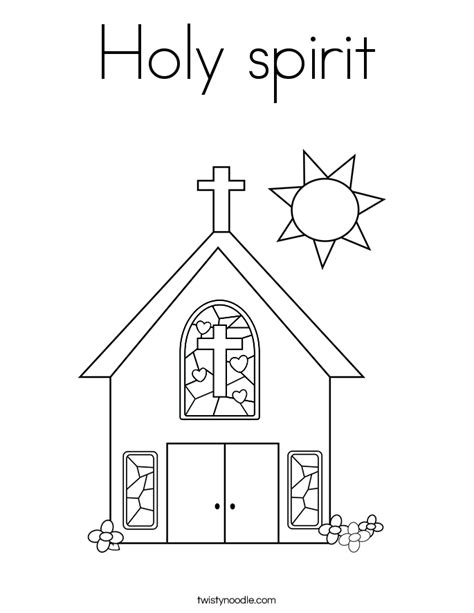 holy spirit coloring page twisty noodle
