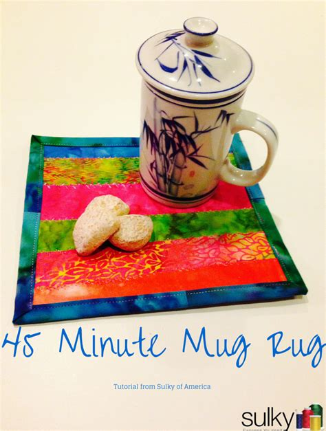 10 minute mug rug free sewing tutorial 45 minute mug rug i sew free