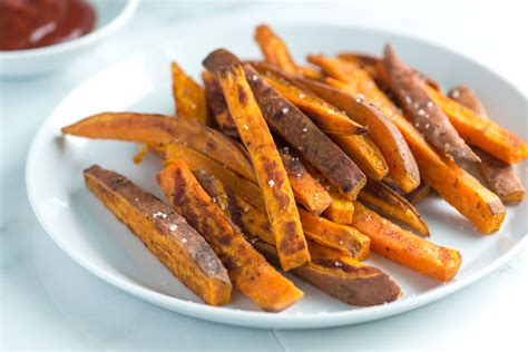 easy homemade baked sweet potato fries recipe