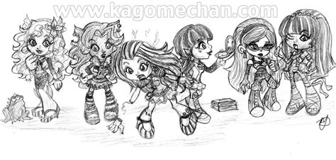 monster high coloring pages all characters together dibujos para colorear de monster high baby imagui