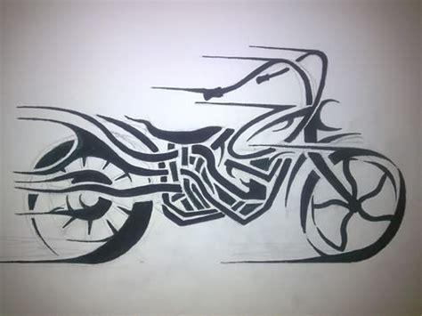 tribal motorcycle tattoos tribal motorcycle design