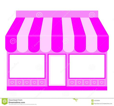 Pink By Z Shop pink shop icon stock photo image 45226894