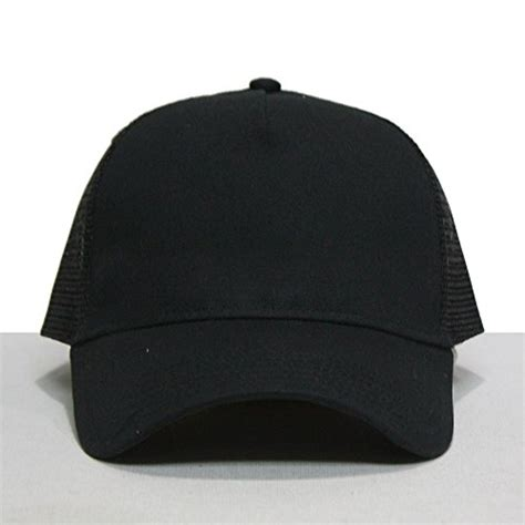 Terbaru Topi Baseball Polos Cotton Twill plain cotton twill mesh adjustable snapback trucker baseball cap various colors black