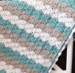 Multi Color Chevron Rug 30 Quick And Easy Crochet Baby Blanket Patterns