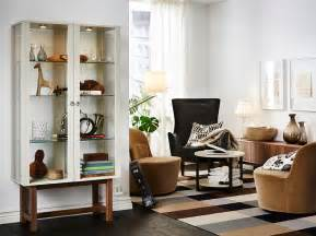 Small Living Room Ideas Ikea living room furnished with a glass door cabinet with solid ash legs
